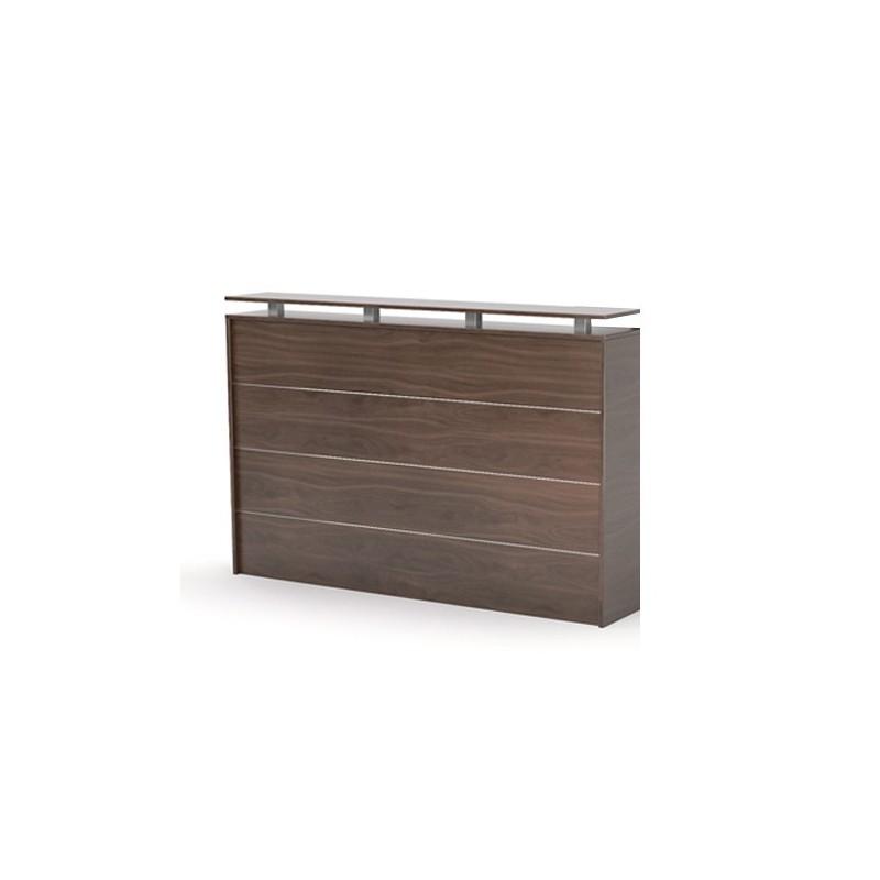 cubit reception desk front dark oak