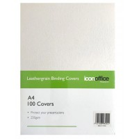 Icon Binding Covers A4 250gsm Pack of 100