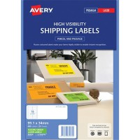 Avery Shipping Label L7162FG Fluoro Green 16 Laser 99.1X34Mm