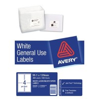 Avery Label L7169 General Use A4 4/Sheet 100 Sheets