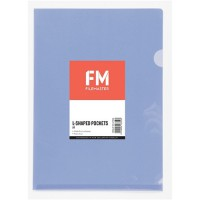 FM Pocket L Shape Clear A4 Purple 12 Pack Hangsell