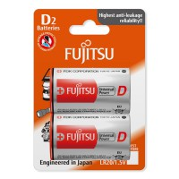Fujitsu Batteries D Universal 2 Pack 1.5V Power