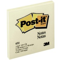 Post-It 654 Notes 76X76mm Yellow