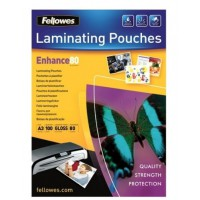Fellowes Laminating Pouch A4 80 Micron 100 Pack