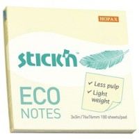 Stick'n Notes Eco Yellow 76 X 101 mm 100 sheets