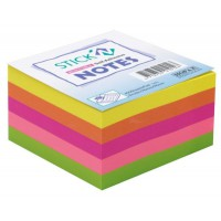 Stick'n Note 76x76mm 400 Sheet Rainbow Neon