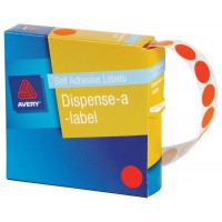 Avery DMC14O Label Dispenser Orange Round 14mm 1050 Pack
