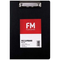 FM Clipboard Black With Flap A5