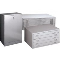 5 DRAWER A0 HORIZONTAL CABINET	454h x 1313w x 929d