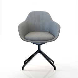 Ava Chair with Black Iron Base