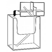 Brochure Holder, Flat Backed, 2-Tier, 2 Wide (4 Pocket) DLE