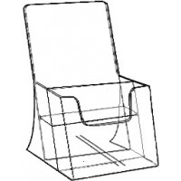 Brochure Holder, Free-standing, 2-Tier DLE