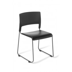 Slim chair with black vinyl...
