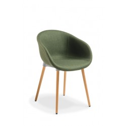 Lotus with Timber Base Chair