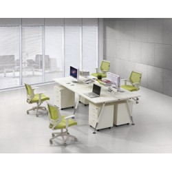 Fleet 4 Person Desk Pod