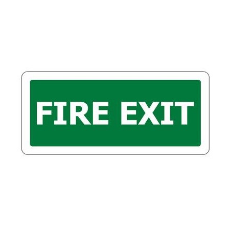 1627 Exit Sign Fire Exit 450x200mm Pvc on Technology Exit Slips