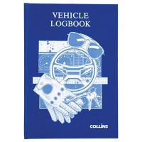 COLLINS VEHICLE LOG BOOK HARD COVER 44 LEAF 215X150MM