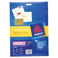 AVERY LABEL L7162-25FP PINK FLUORO 99.1X34MM 25 PACK