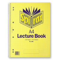 SPIRAX 906 LECTURE BOOK SIDE OPENING A4 140 PAGE