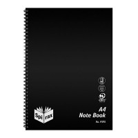 SPIRAX P595 PP NOTEBOOK SIDE OPENING A4 120 PAGE BLACK