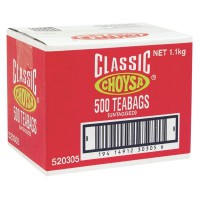 Choysa Classic Tagless Tea Bags, Box of 500