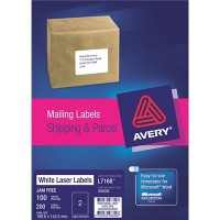 AVERY L7168-100 199.6X143.5MM 100 SHEETS