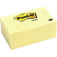 Post-it® Notes 635 Lined 76x127mm Yellow, Pack of 5