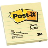 Post-it® Notes 630 Lined 76x76mm Yellow