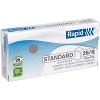 Rapid Staples 26/6 6mm, Box of 5000