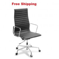 Eames Replica Classic Leather High Back Chair
