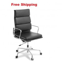 Eames Replica Soft Pad Leather High Back Chair