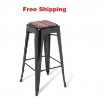 Industry Bar Stool With Seat Upholstered