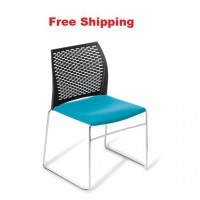 Net Chrome Frame Chair With Seat Upholstered