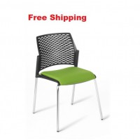 Punch 4-leg Chrome Frame Chair With Seat Upholstered