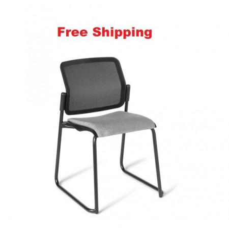 Report Sled Black Frame Chair
