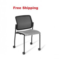 Report 4-leg Black Frame Chair on Castors