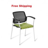 Report Chrome Frame Chair with Armrests