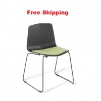 Stratos Sled Chair With Seat Upholstered
