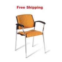 552 Chrome Frame Chair With Seat and Back Upholstered