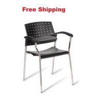 552 Chrome Frame Chair With Tablet Arm