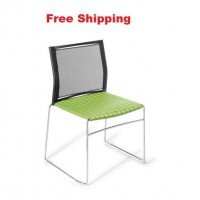 Web Mesh Chrome frame Chair With Seat Upholstered