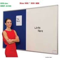 Combination Whiteboard/Pinboards