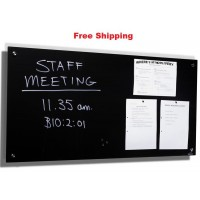 Magnetic Glassboards Black Free Delivery