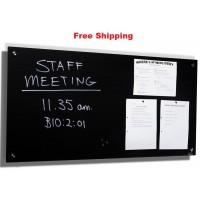Magnetic Glassboards Black Free Delivery