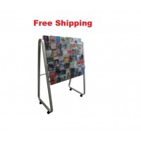 Single-Sided Easel Floor Stand 48 x DLE, 6 Rows, 8 Wide