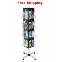 Revolving 4-sided Display Floor Stand DLE x 32