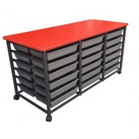 Mobile Tote Storage Metal Frame 1355mm x 550mm x 720mm