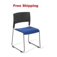 Slim Chair With Seat Upholstered