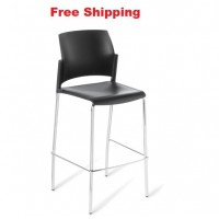 Spring Chrome Frame Bar Stool