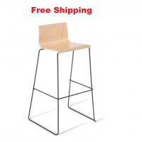 Cruise Sled Black Frame Bar Stool